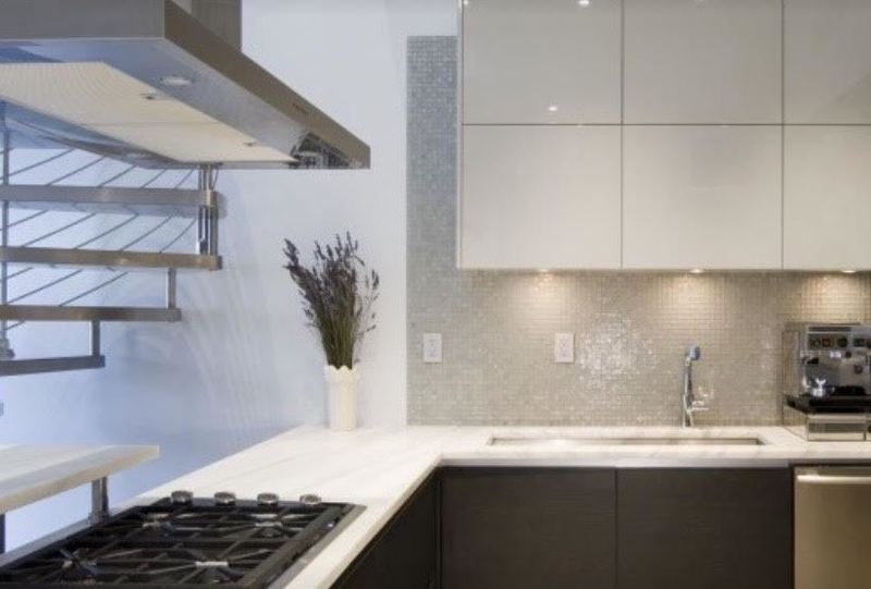 simple kitchen and bath; modern, custom kitchen and bathroom