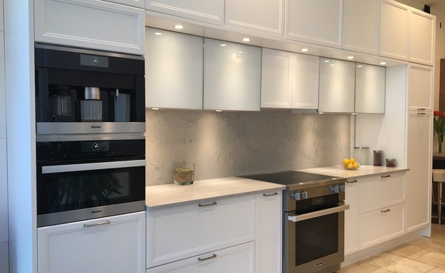 Showroom, White Kitchen cabinets Philadelphia